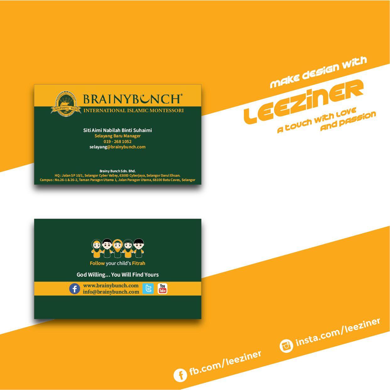 Brainy Bunch Business Card Cards Visit Carte De Visite