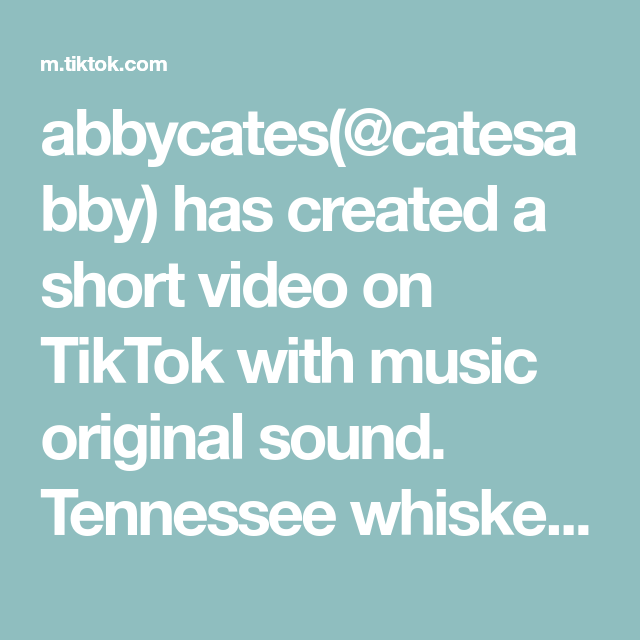 Abbycates Catesabby Has Created A Short Video On Tiktok With Music Original Sound Tennessee Whiskey The Originals Greenscreen Avatar The Last Airbender