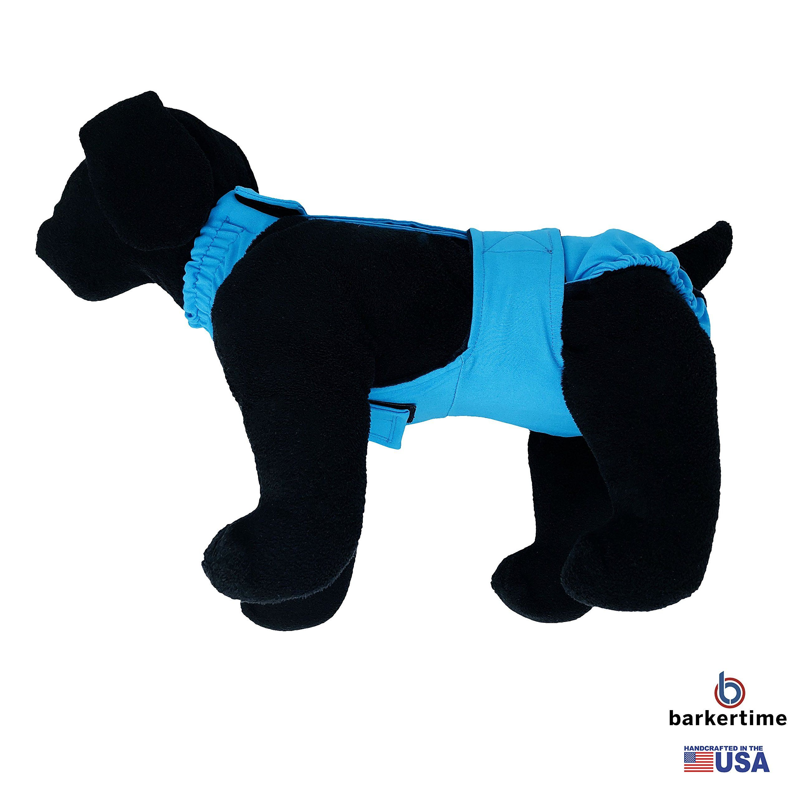 Dog Diaper Overall Made in USA Sky Blue EscapeProof