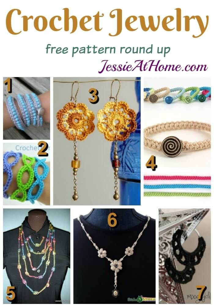 Free Crochet Jewelry Patterns Jessie At Home Pinterest Crochet