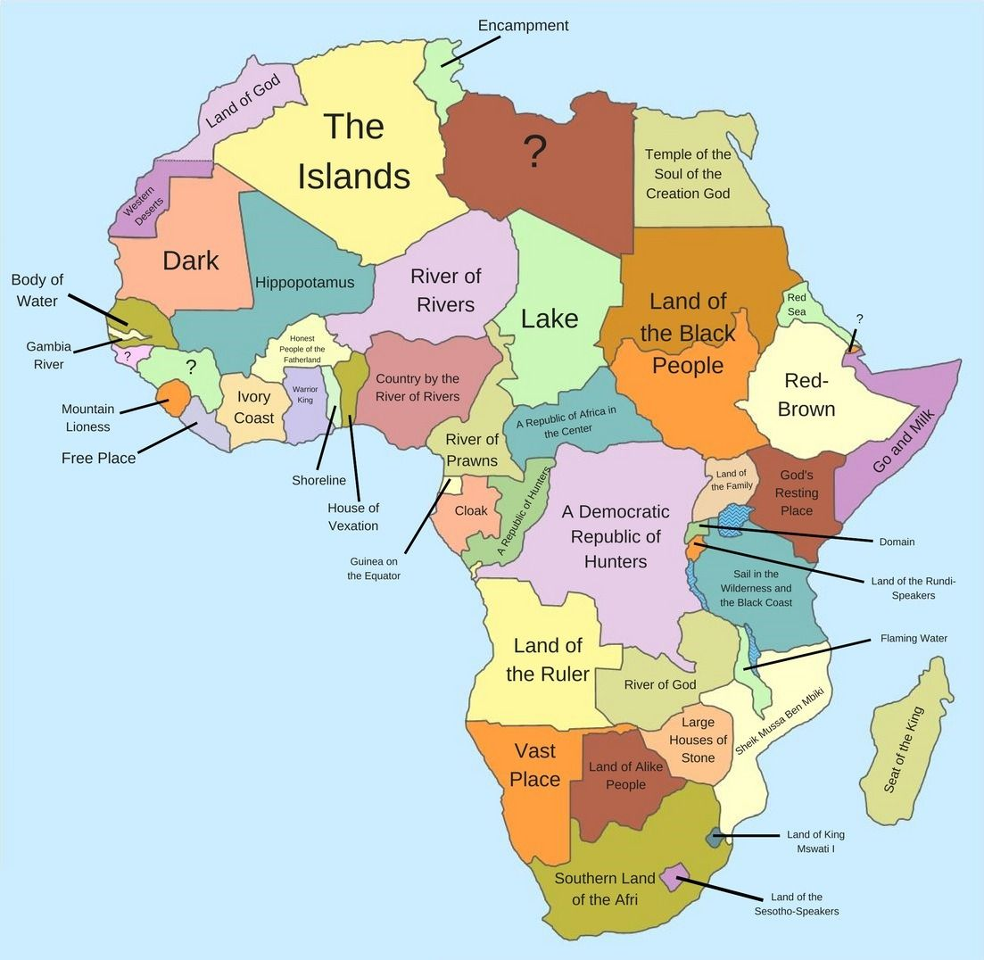 Literal meaning and origin of country names in Africa