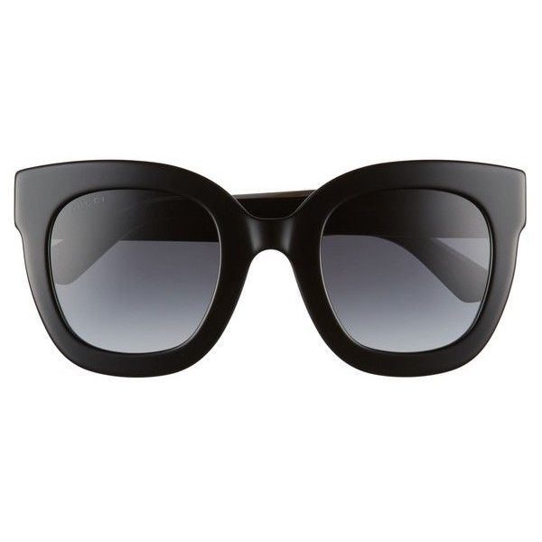 cabd51b038 Women s Gucci 49Mm Cat Eye Sunglasses ( 400) ❤ liked on Polyvore featuring  accessories