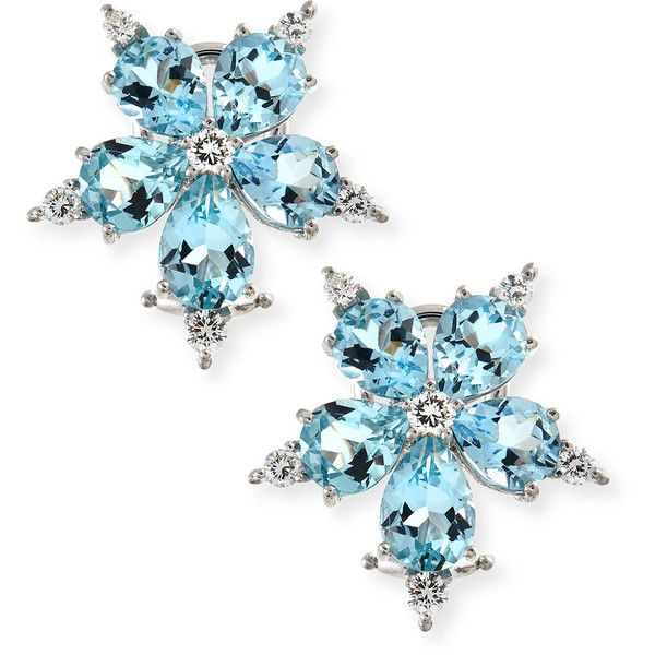 Paul Morelli Small Stellanise Blue Sapphire & Diamond Stud Earrings j80L9t