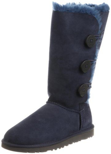 UGG Australia Womens Bailey Button Triplet Boot Navy Size 8 -- Be sure to  check