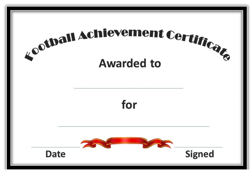 Soccer Award Certificates Activity Shelter Blank Certificate - football certificate template