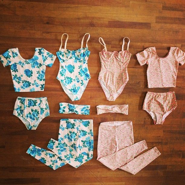 Floral Cotton Spandex Jersey Collection by #AmericanApparel. #floral #prints