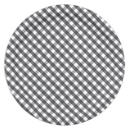 Black u0026 White Plaid Paper Plate - black and white gifts unique special bu0026w style  sc 1 st  Pinterest & Black u0026 White Plaid Paper Plate | White plaid