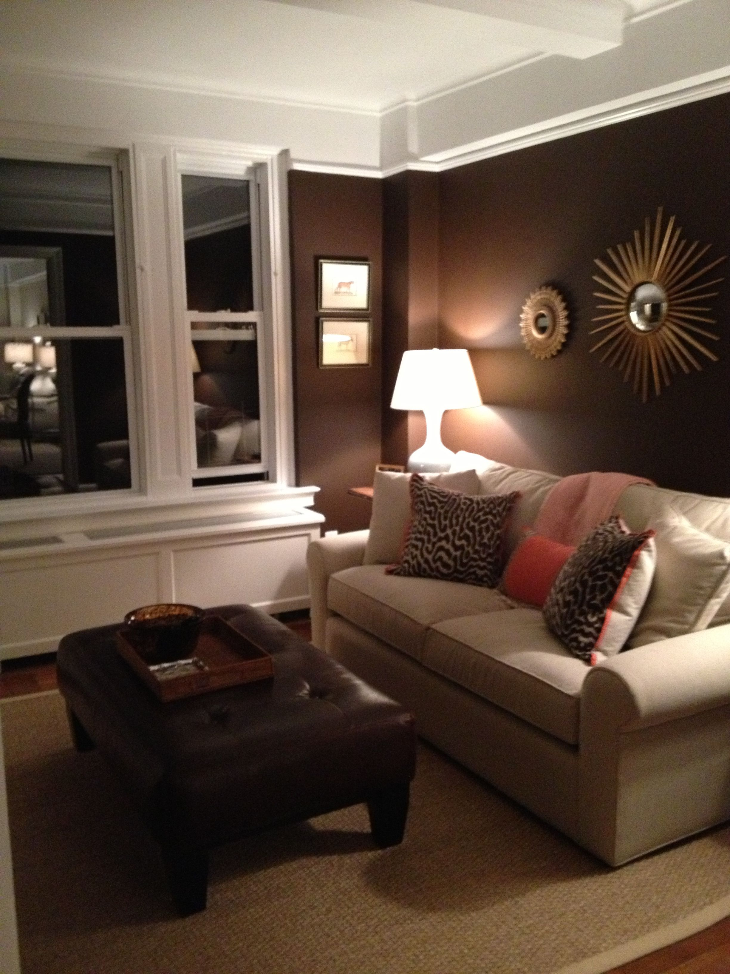Den Room: Right When You Walk Downstairs. I Love The Dark Colors