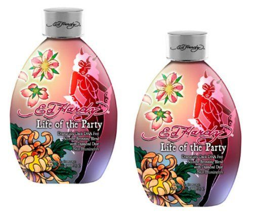 Lot 2 Ed Hardy Life Party Indoor Tanning Lotion Accelerator Bronzer Dark Tan Bed By Ed H Indoor Tanning Lotion Tanning Lotion Indoor Tanning Lotion Accelerator