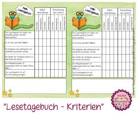 Deutsch Lernen Lesetagebuch Lesen Lernen