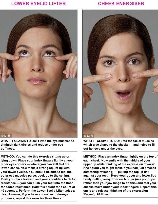 Face yoga exercises eyes