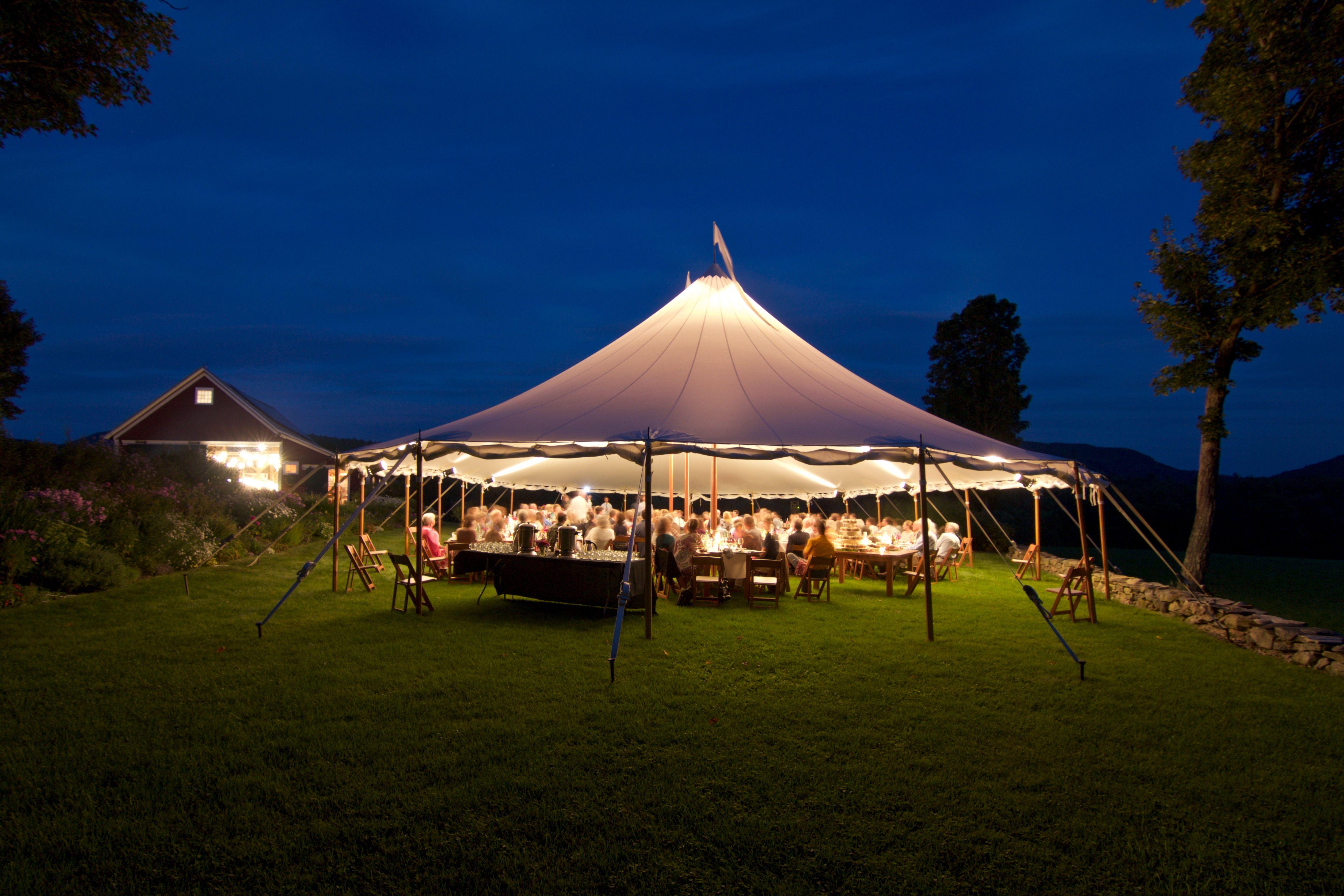 Sailcloth Tent At Night Tent Patio Umbrella Outdoor