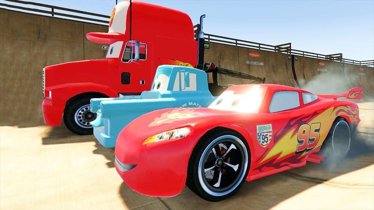 disney cars games for kids spiderman lightning mcqueen cartoon