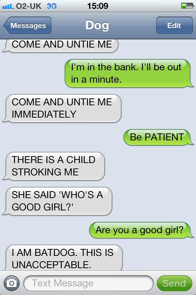 A conversation text messages Good to start
