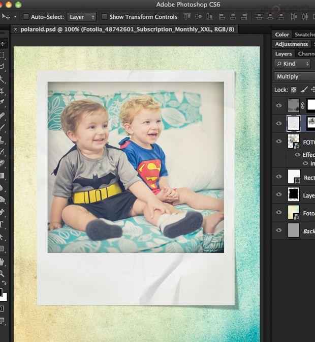 e8443b28c3bf2 Efeito Polaroid no Photoshop
