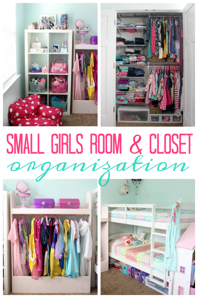 Small Spaces Can Be A Challenge To Organize Come See How We Ve Organized This Girls Small Room Organization Girls Bedroom Organization Girls Room Organization