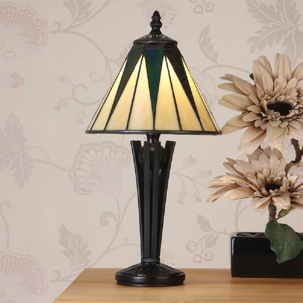Art deco table lamps designs ideas for yellow bedroom dark star small table lamp a symbolic design in iridescent black and contrasting background of pearly creams h 400 w 200 d 200 bulbs 1 x 40 fittings geotapseo Image collections