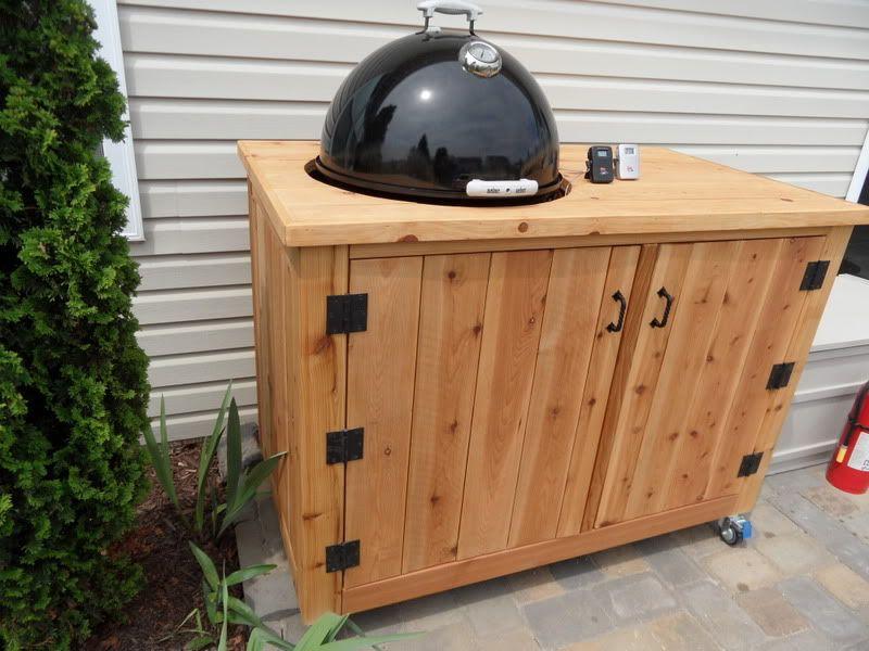 Weber Smokey Joe Table.Weber Wsm Smoker Enclosure Great Idea Going To Extend This