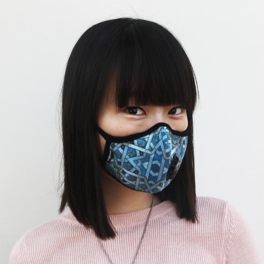 Particle Chakra Health Vmcv Mask Vogmask Model Wearing Filtering