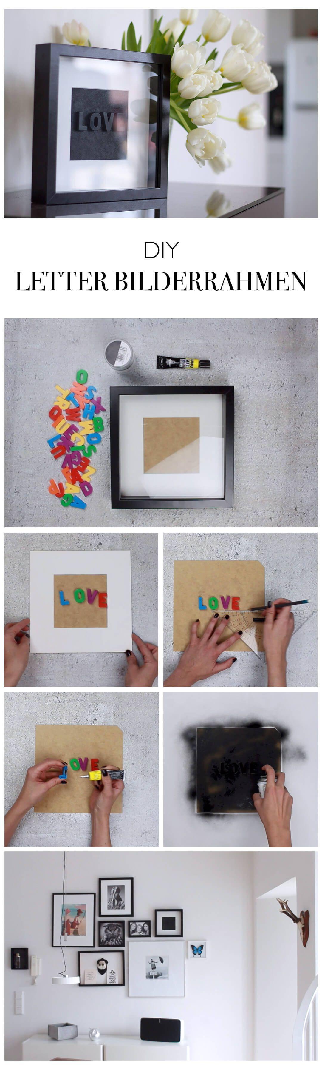 Diy letter art buchstaben wandbild pinterest arte de pared diy bilderrahmen mit schriftzug letterbox do it yourself blog lindaloves solutioingenieria Images