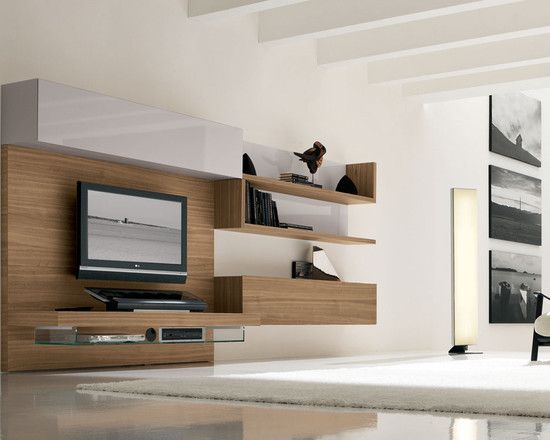 Entertainment Unit Floating Shelves Design Pictures Remodel Decor And Ideas Page 3