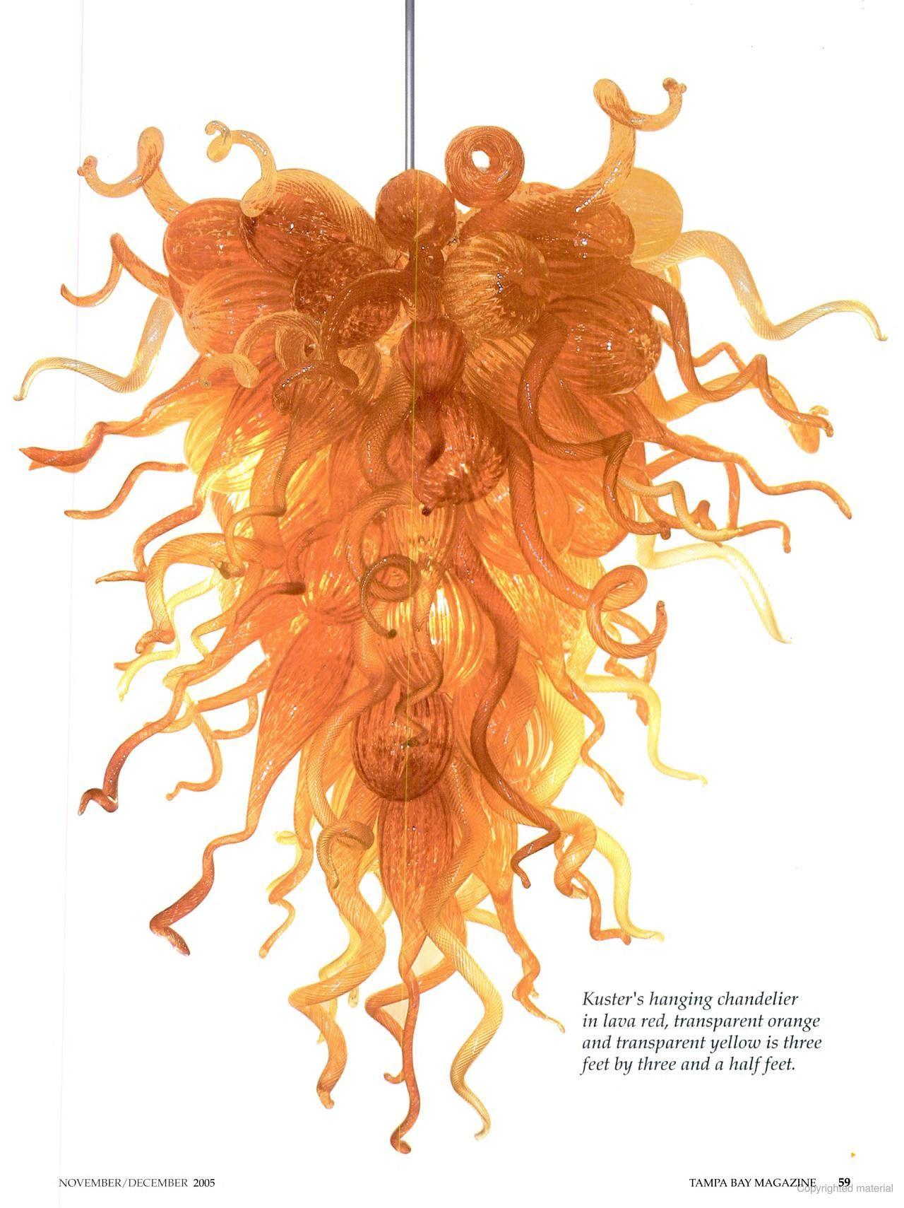 Tampa Bay Magazine Glass chandelier Pinterest