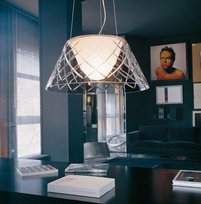 moderne pendelleuchte glas schirm ROMEO LOUIS II S2 design - moderne pendelleuchten wohnzimmer