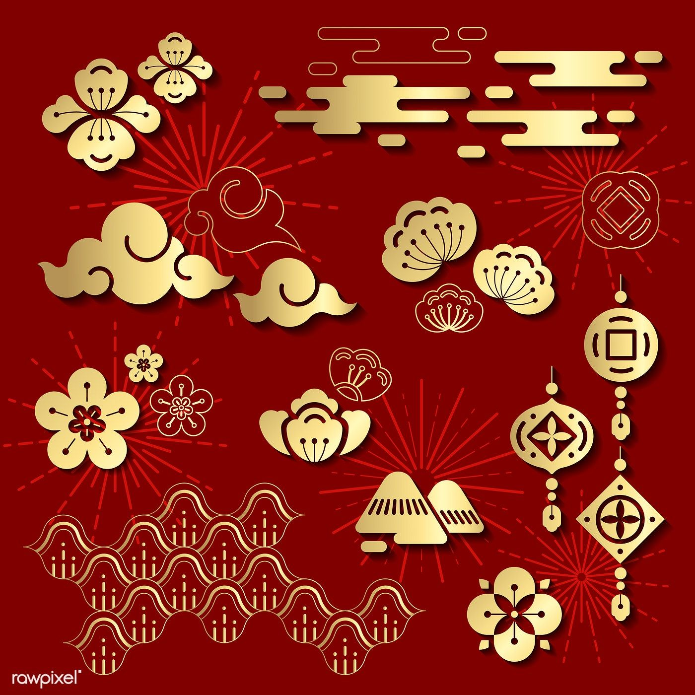 Chinese new year 2019 design free image by