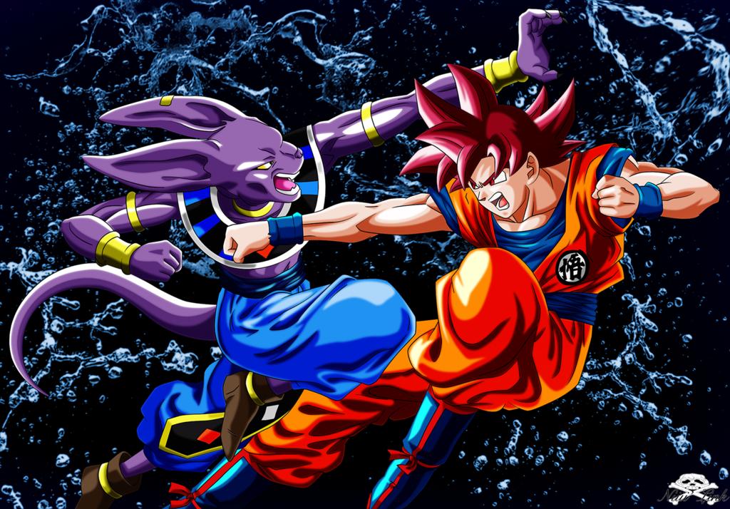 Beerus Vs God Goku By Niiii Link On Deviantart Anime Dragon Ball Super Dragon Ball Super Manga Dragon Ball Super Goku