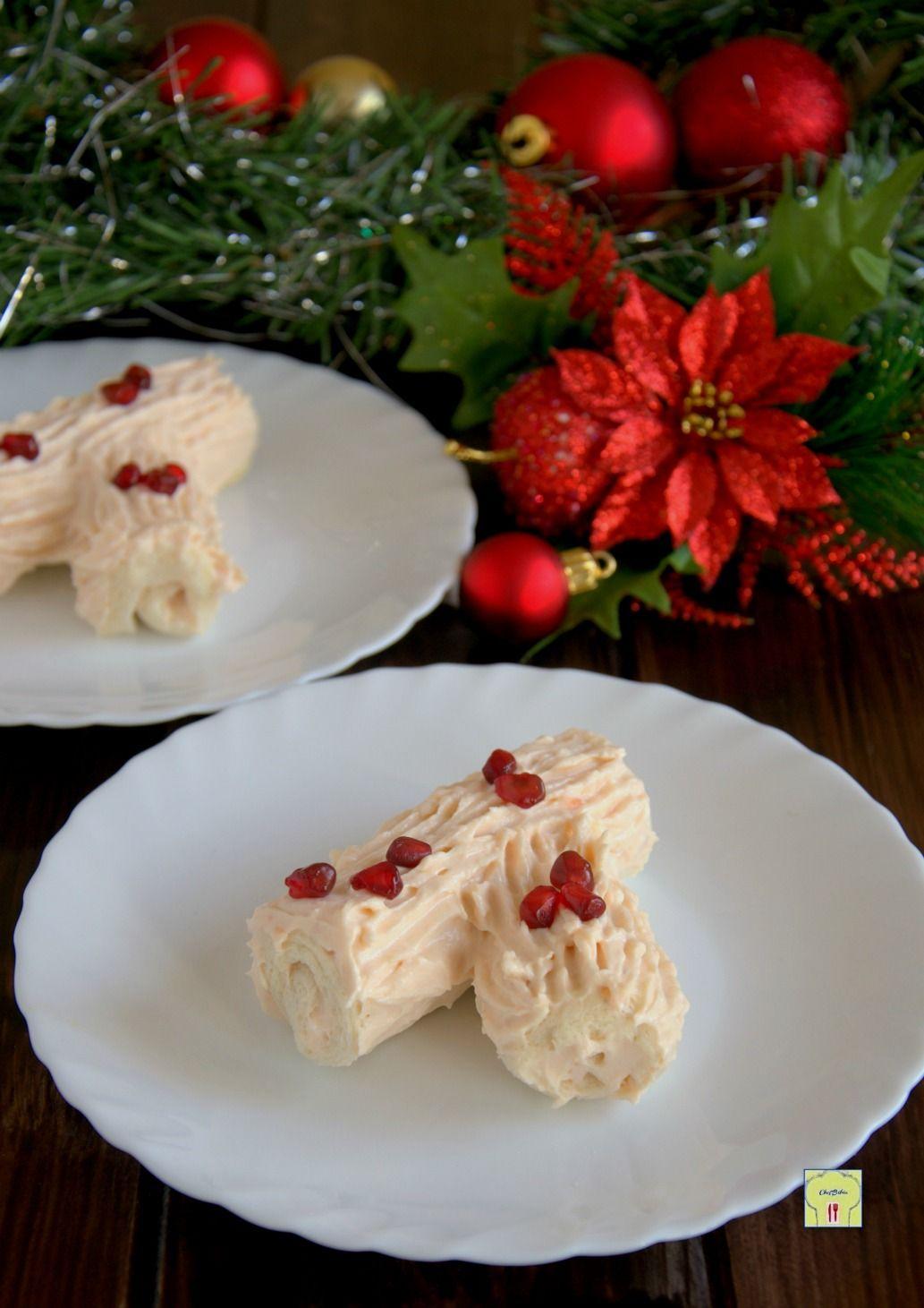 Antipasti Di Natale Monoporzione.Tronchetto Salato Al Salmone Monoporzione Ricette Per Natale
