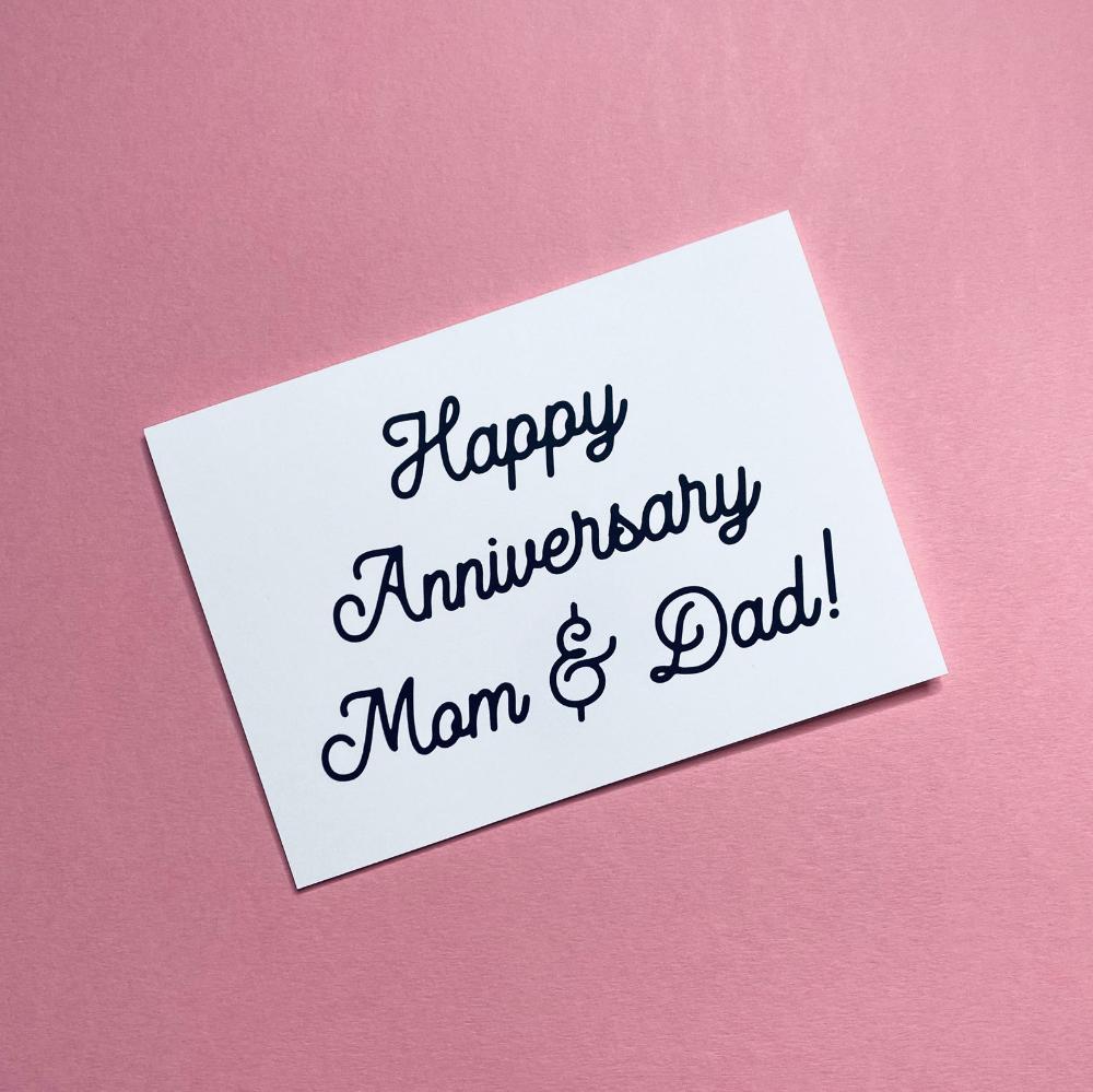 Happy Anniversary Mom And Dad Happy Anniversary For Mom And Dad Anniversary Card Greeting Card Gift For Parents Happy Anniversary Happy Anniversary Parents Happy Anniversary Mom Dad