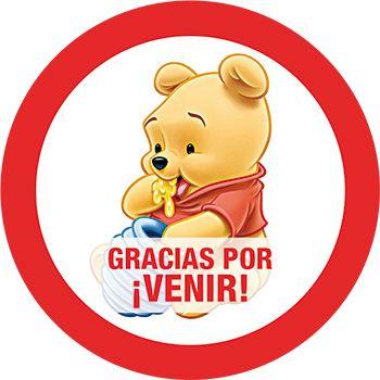 4048a0776 Etiqueta Winnie Pooh Fiesta Cumpleaños Kit Imprimible Gratis Tarjetas De  Agradecimiento, Bolsitas Para Cumpleaños,