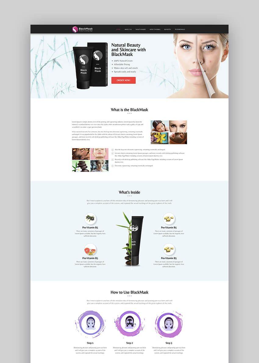 Sintex Product Landing Page Template Website Design Layout Landing Page Minimal Web Design