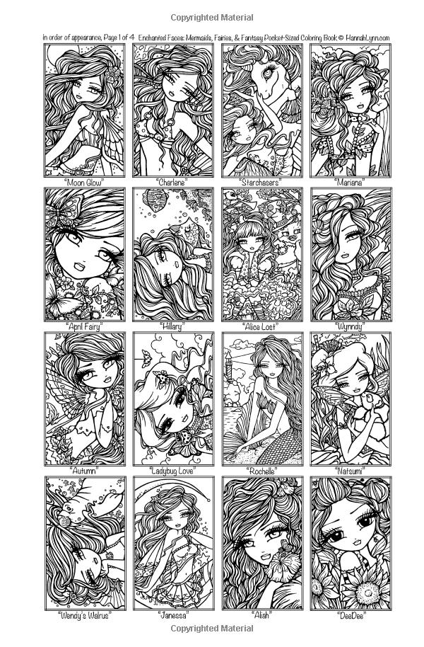 Enchanted Faces: Mermaids, Fairies, & Fantasy Pocket-Sized Coloring ...