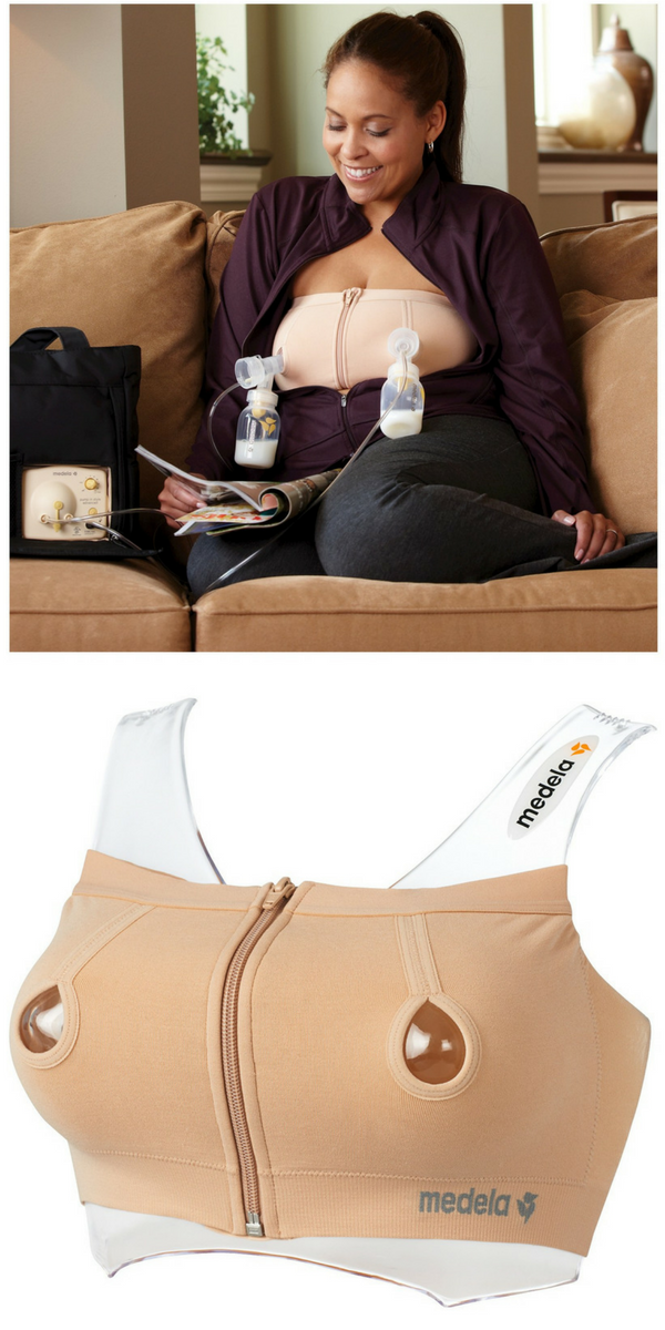 1b1e61d05ecac Medela Easy Expression Hands Free Pumping Bustier - Maximize your pumping  time with the Medela Easy Expression Bustier. Zip on this pumping bra and  attach ...