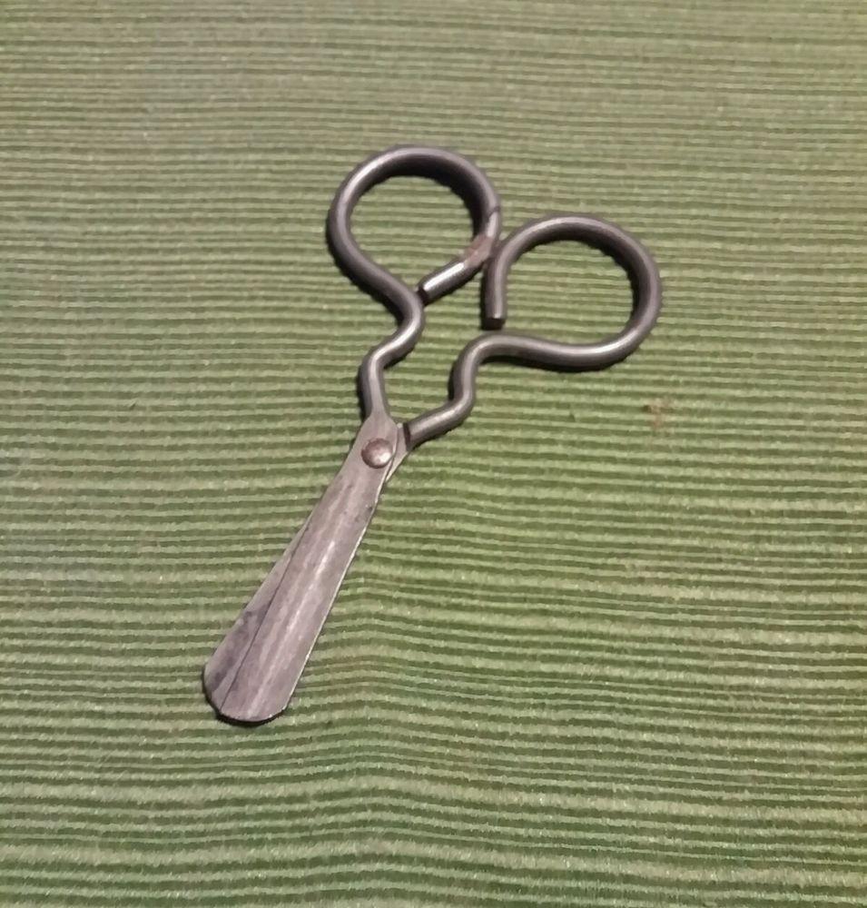 Vintage Silver Tone Round Tip Children's Scissors