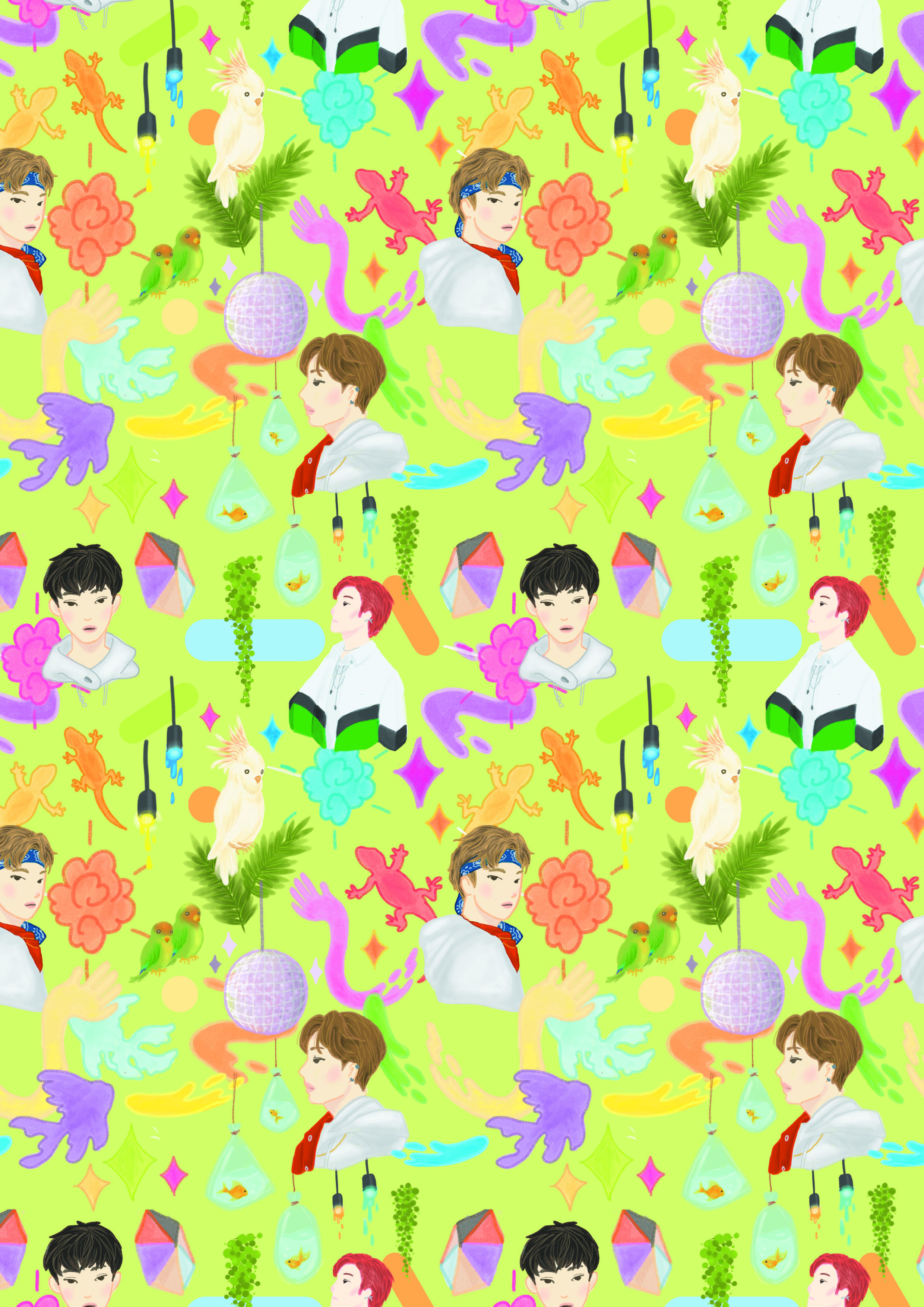 Yestoday Nct U Illustrated As Pattern Check Out My Artwork