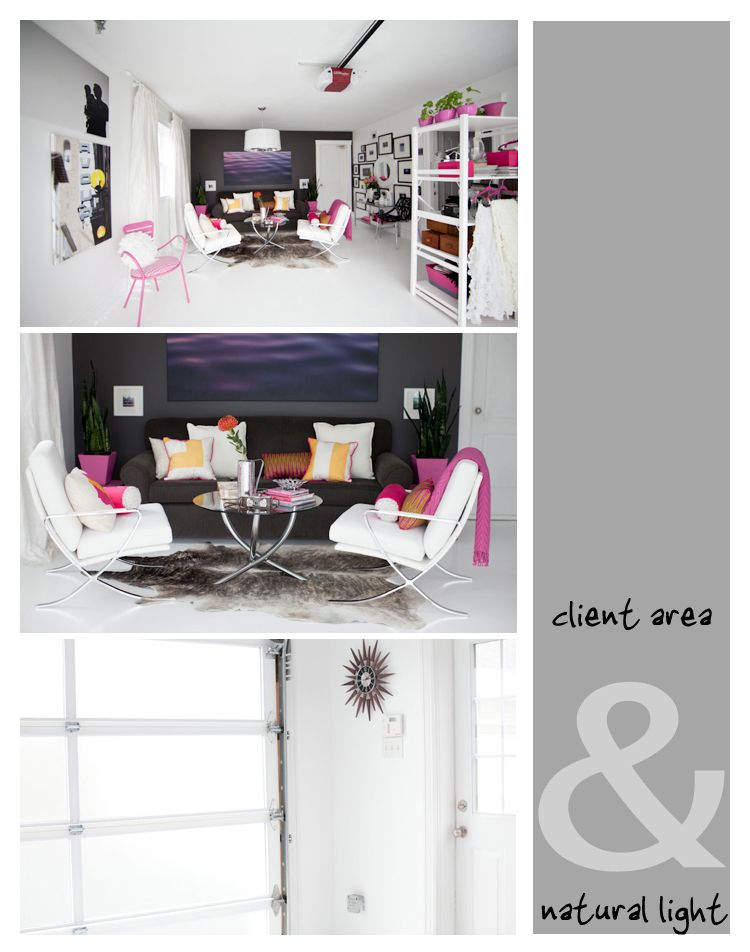 in-home natural light studio fashioned from a garage. A girl can ...