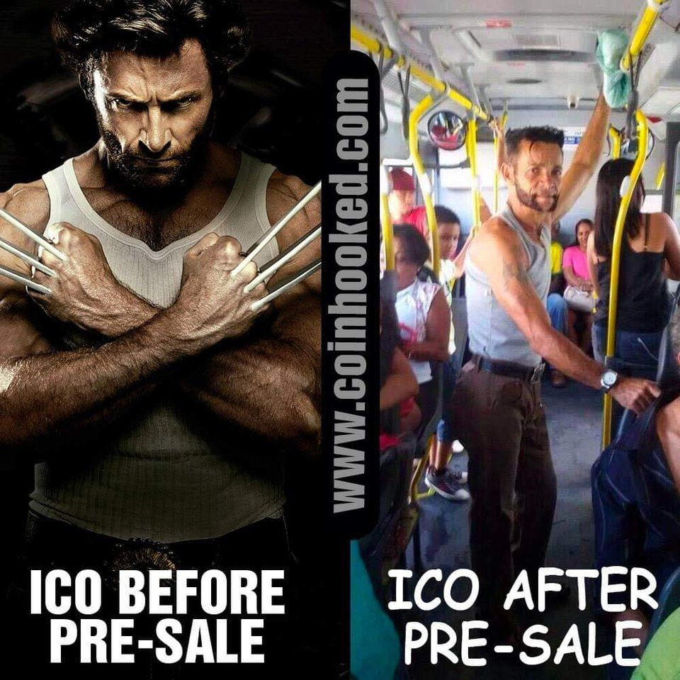 ICO Before & After PRESALE 😂😂😅 CryptoCurrency Ing
