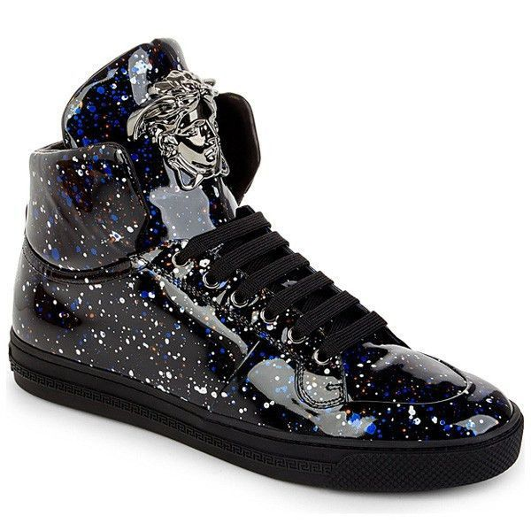 42ea87aed28ad8 Space Paint Splatter High-Top Trainers by Versace