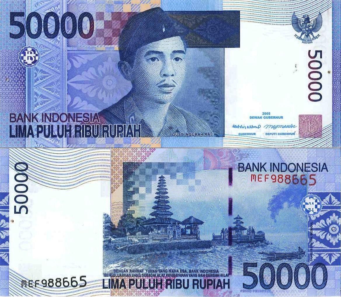50.000 Rupiah (Indonesia) Uang, Sejarah, dan Bali