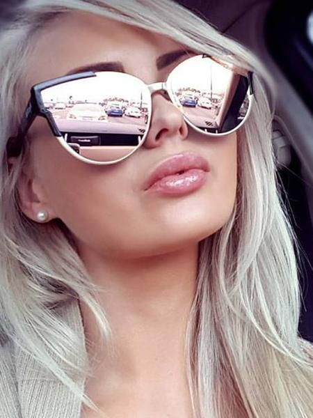 fc7fd84d1b31 Slay - Rose Gold Mirror Reflective Sunglasses – Dollboxx