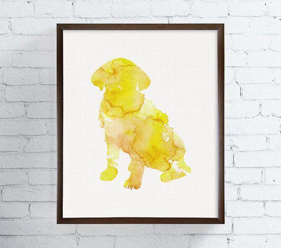 Watercolor Dog Print, Dog Print, Dog Painting, Dog Poster, Dog Wall ...