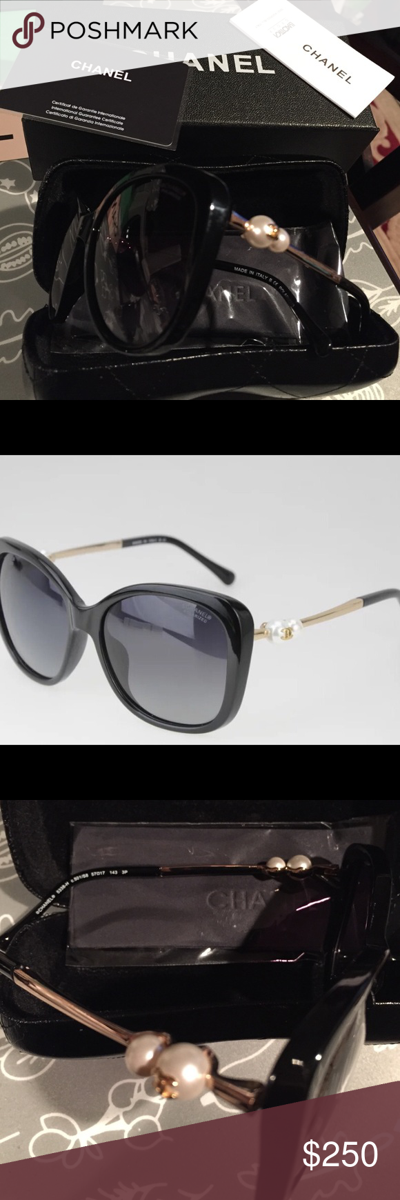 Chanel pearl 5338-H sunglasses in case and box Gorgeous brand new sunglasses CHANEL Accessories Sunglasses