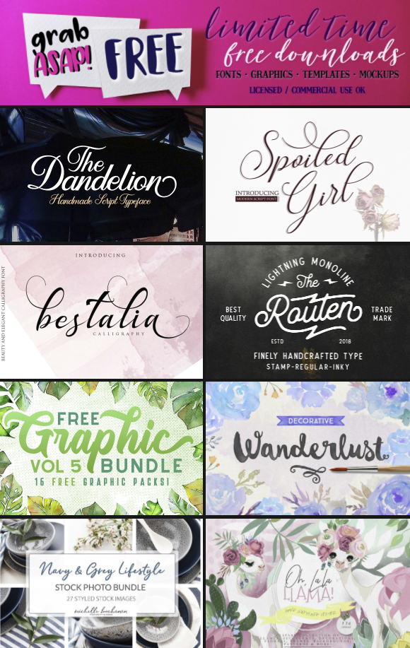 Download Check out all the new fonts & graphics available for FREE ...