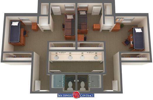 Tarleton State University- Heritage floor plan | Dorm ideas in 2018 ...