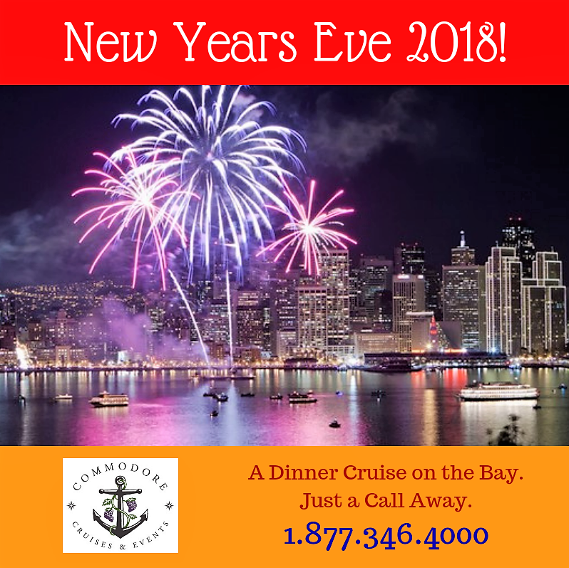 Where Will You Be New Years Eve If You Want To Cruise By The San Francisco Skyline And Enjoy The Best Possible View Of The Fireworks Usher In  On A