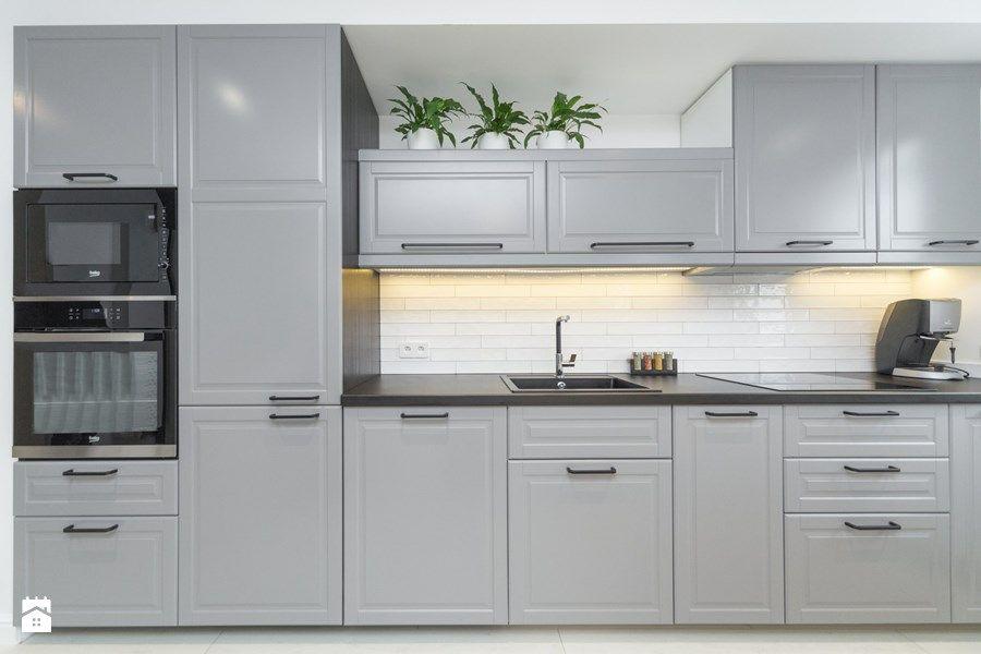 Znalezione Obrazy Dla Zapytania Kuchnia Szara Ikea Małe