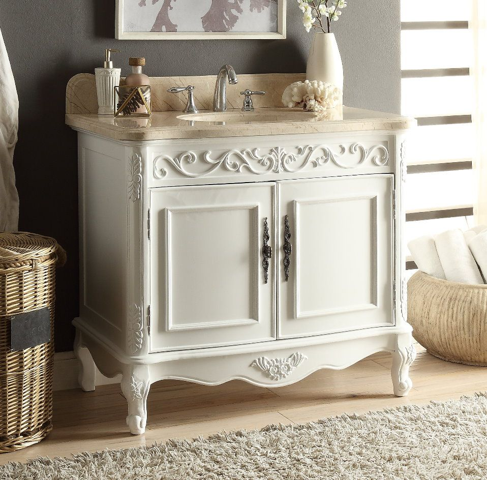 Adelina 39 Finished Bathrooms Beige Marble Victorian Style Bathroom
