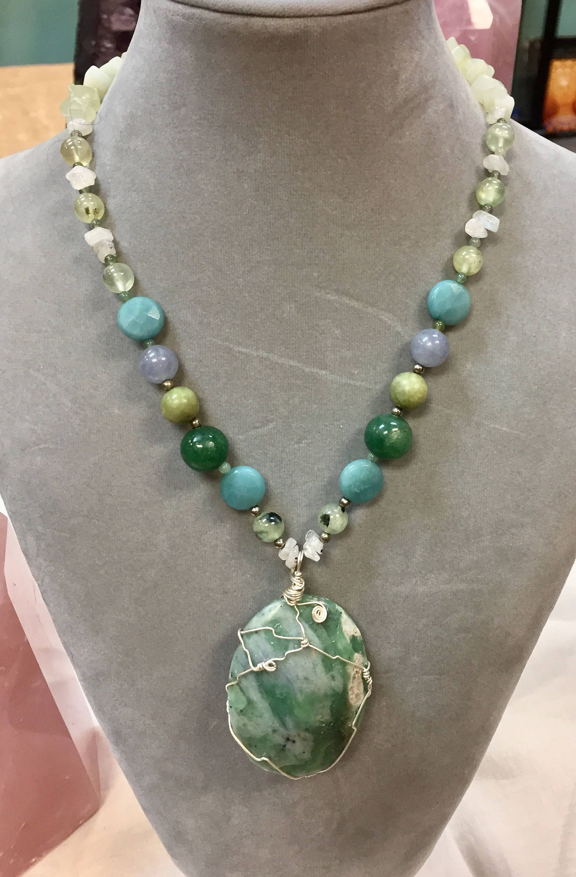 img necklace products jewelry namaste amazonite page